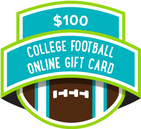 $100 College Football Online Gift Card