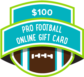 $100 Pro Football Online Gift Card