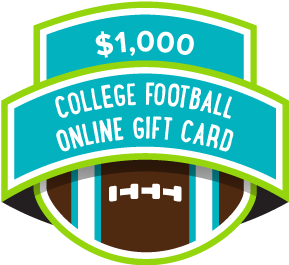 $1000 College Football Online Gift Card