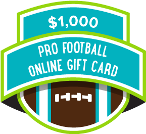 $1000 Pro Football Online Gift Card