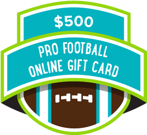 $500 College Football Online Gift Card