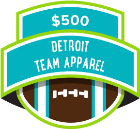 $500 Detroit Team Apparel
