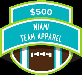 $500 Miami Team Apparel