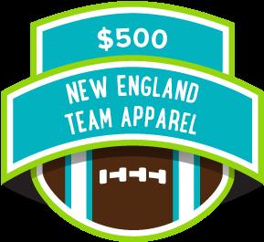 $500 New England Team Apparel