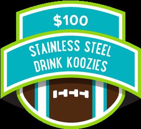 $100 Stainless Steel Drink Koozies